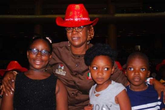 Hon. Princess Rashidat Abiodun Adu and some kids