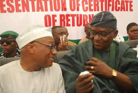 Mr.Sam Olugbadebo Olumekunmi and Dr.Adekunle Ogunmola