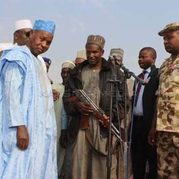 Picture Of Masari's Negotiations With Bandits Goes Viral, Sparks Outrage –  The Source Magazine