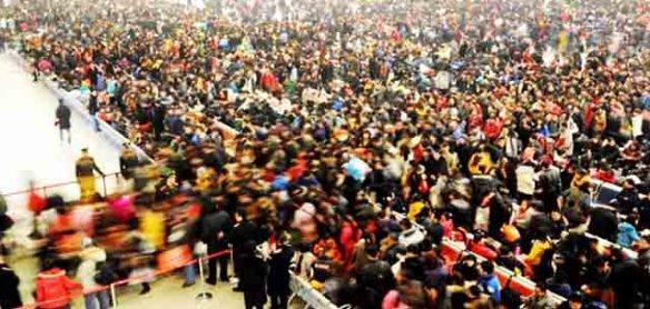 Chinese New Year Train Rush