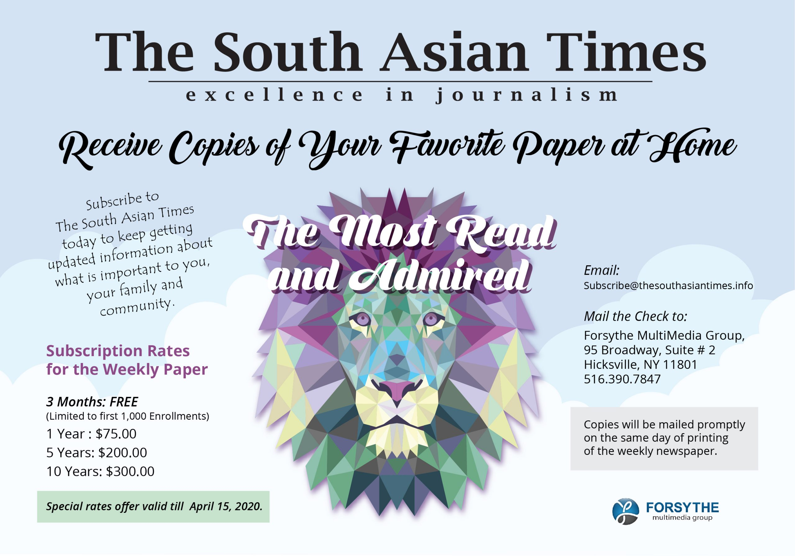 TheSouthAsianTimes3MonthsFreeOffer