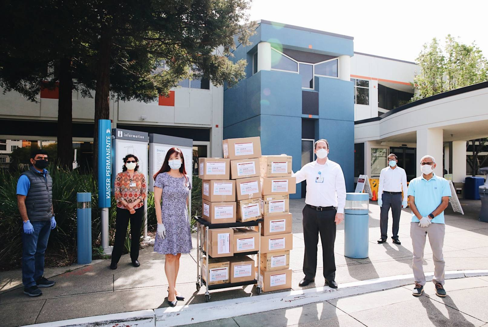 Over 11,000 Personal Protective Equipment Donated to Kaiser Permanente Hospital in Fremont, CA