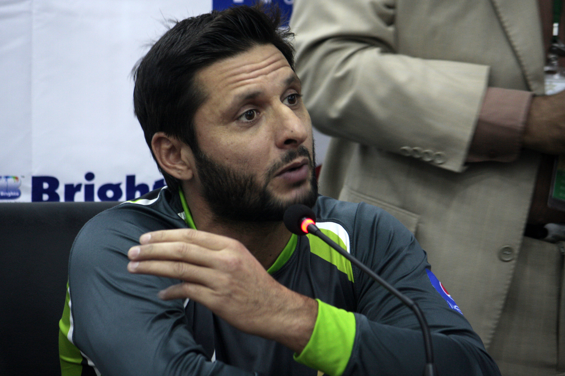 Former Pakistan cricket captain Shahid Afridi.