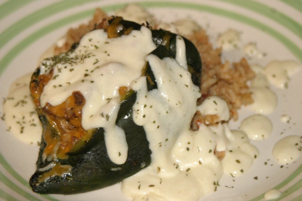 Roasted Elk Stuffed Poblano Peppers