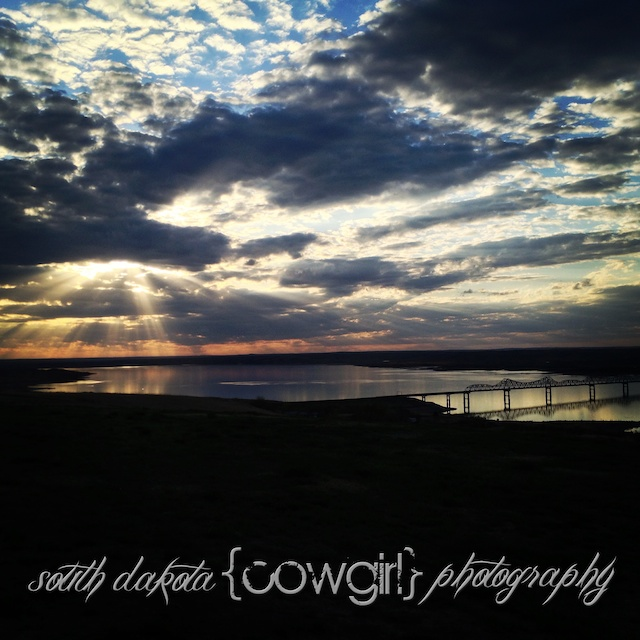 south dakota cowgirl photography, palomino horse, iphone photo, missouri river, sunset photography