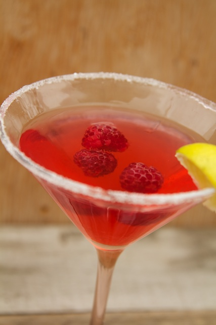 Raspberry Lime Martini