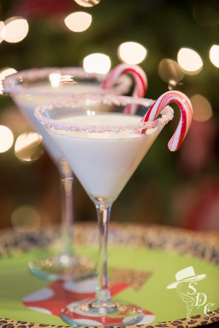 peppermint martini, south dakota cowgirl, christmas cocktails