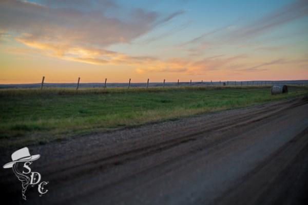 sunset, south dakota sunset, south dakota cowgirl photography