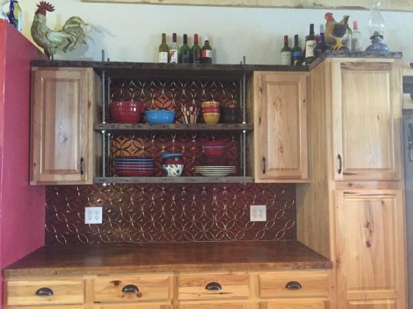 diy, floating kitchen shelves, industrial, rustic, kitchen, open shelving, the south dakota cowgirl, open kitchen shelving, diy kitchen shelves, reclaimed wood kitchen shelves
