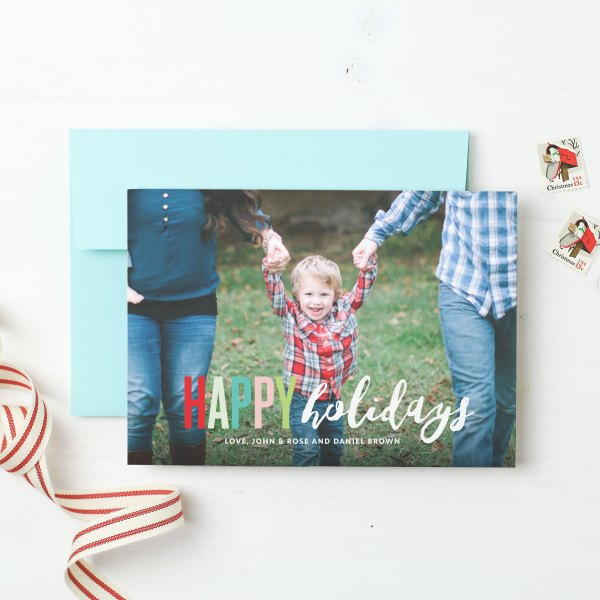 Basic Invite Christmas Card, Christmas Card, Card, custom card, personal touch