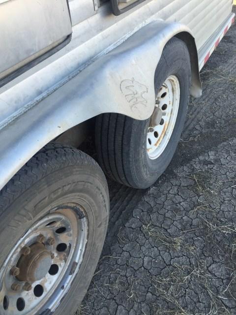 jacked up trailer fender