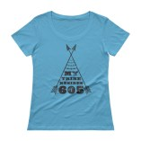 """My Tribe"" Ladies' Scoopneck T-Shirt"