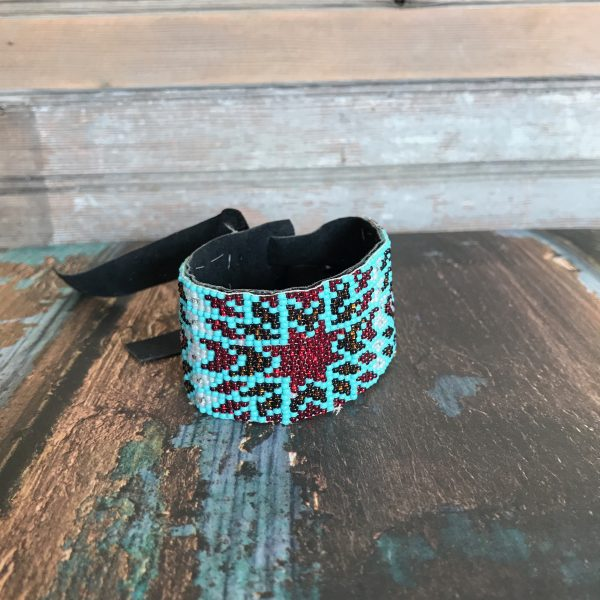 beaded cuff bracelet by DX Design