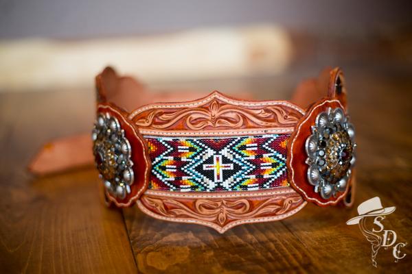 beaded hip belt by DX Designs
