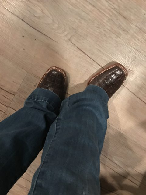 Caiman Boots from Cavenders, boots are made for dancing