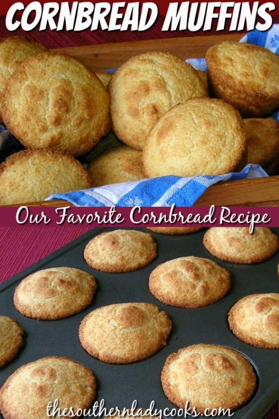 Cornbread Muffins - The Southern Lady Cooks