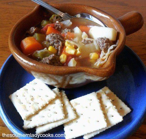 Hamburger Vegetable Soup1