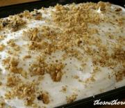 CHOCOLATE AND CARAMEL WALNUT CAKE OR HEATH BAR CAKE