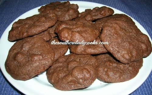 Double the chocolate Cookies The Southern Lady Cooks