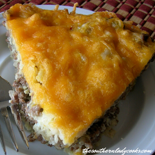 Cheesy Hamburger Pie - The Southern Lady Cooks