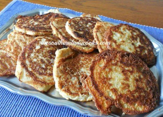 Fried cornbread or hoecakes
