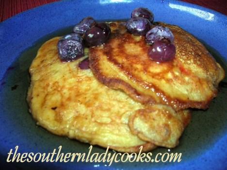 Banana, Blueberry, Buttermilk Pancakes