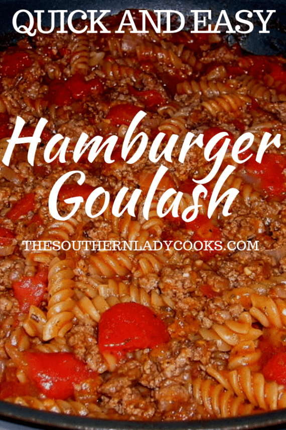 Hamburger Goulash - The Southern Lady Cooks
