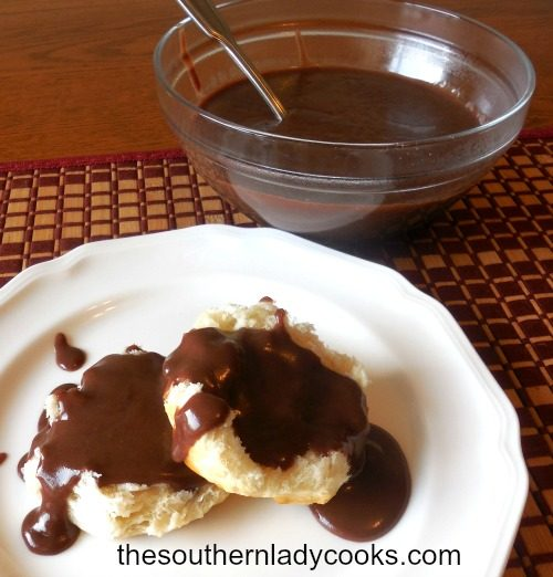 CHOCOLATE GRAVY AND BISCUITS - The Southern Lady Cooks