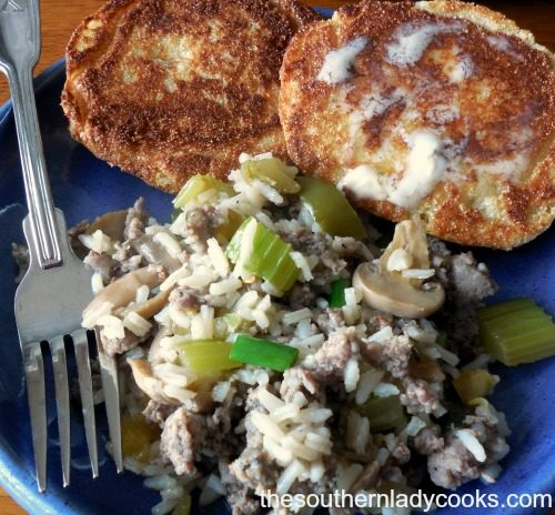 Sausage and Rice Skillet The Southern Lady Cooks