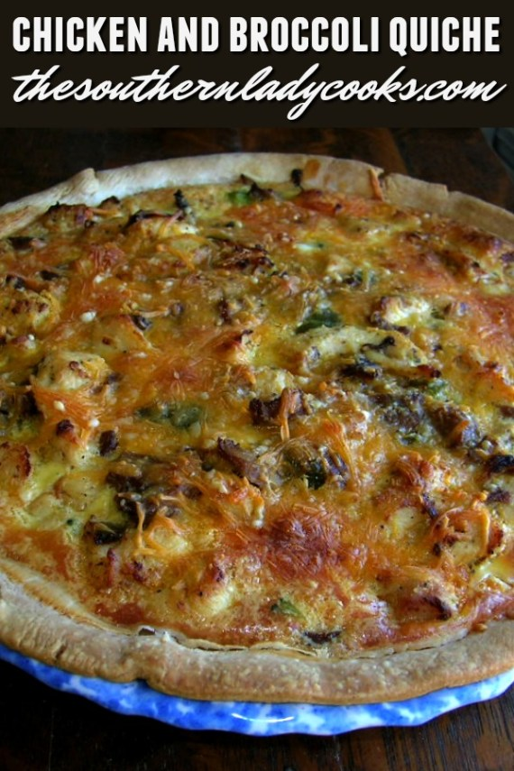 Chicken and Broccoli Quiche