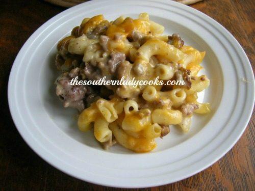 Hamburger casserole - The Southern Lady Cooks