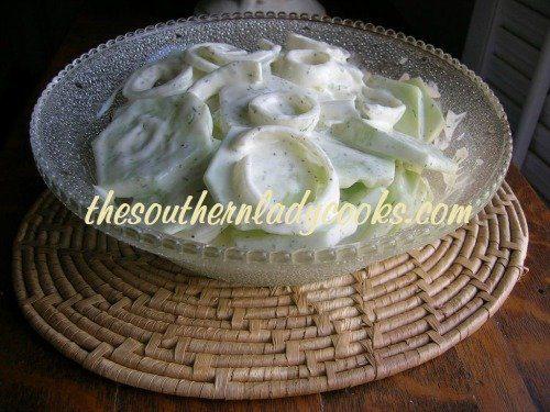 Creamed Cucumbers