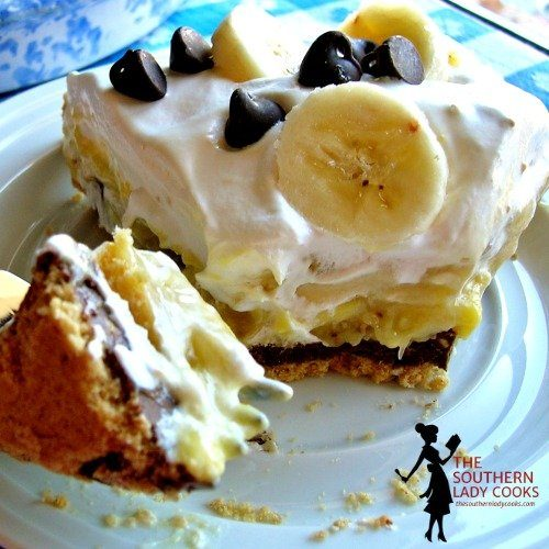 Peanut Butter Chocolate Banana Pie