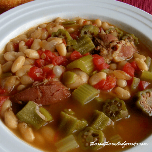 White Bean Soup - The Southern Lady Cooks