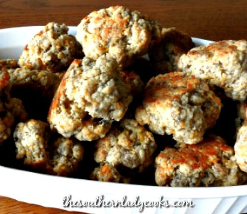 Sausage Balls - The Southern Lady Cooks