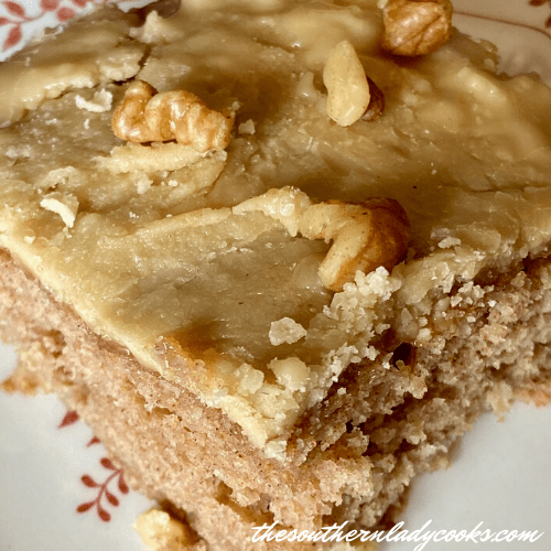Apple Spice Cake with Caramel Frosting - The Southern Lady Cooks