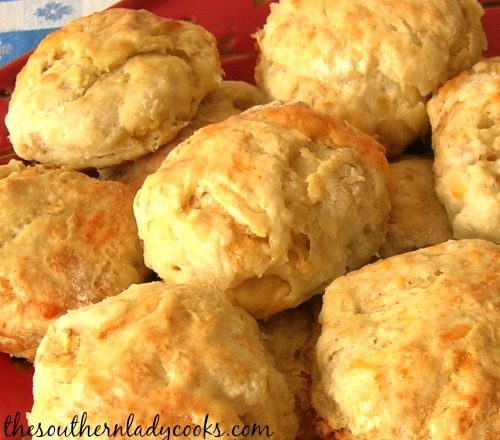 Cheesy Apple Biscuits