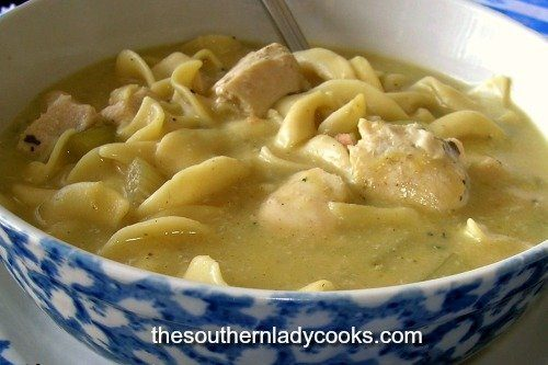 Chicken Noodle Soup -The Southern Lady Cooks