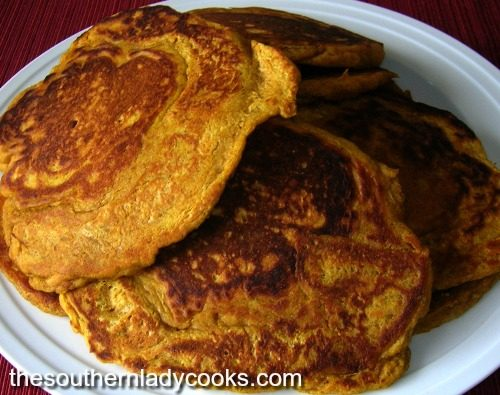 Pumpkin Pancakes with Cinnamon Syrup The Southern Lady Cooks