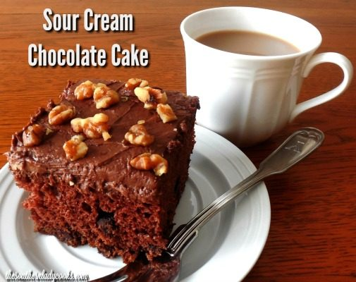 Sour Cream Chocolate Cake - The Southern Lady Cooks