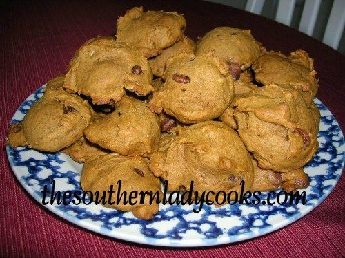 Chocolate Pumpkin Cookies The Southern Lady Cooks