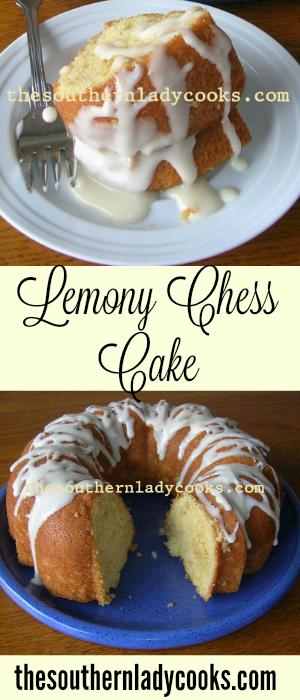 Lemony Chess Cake