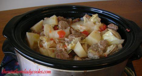 Crockpot Pork Steak Stew