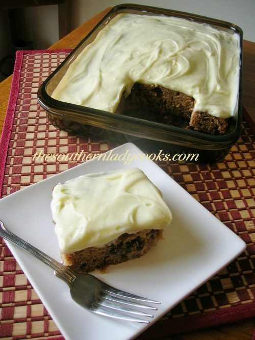 Applesauce Banana And Raisin Cake The Southern Lady Cooks
