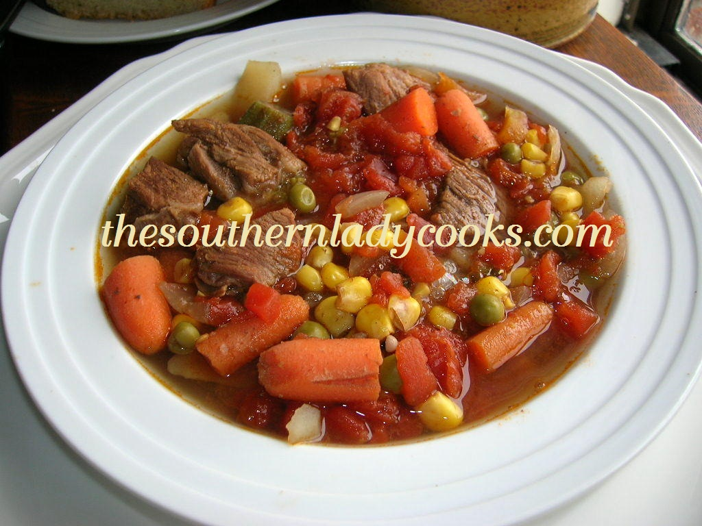 Homemade Vegetable Beef Soup The Southern Lady Cooks