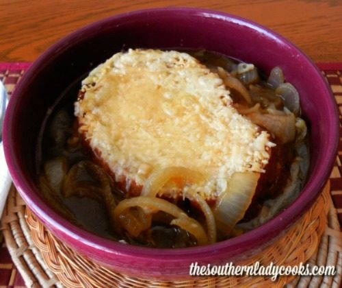 French Onion Soup -The Southern Lady Cooks