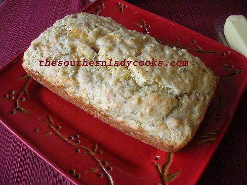 Cheesy Onion Bread with Bacon - TSLC