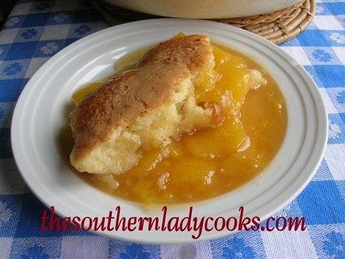 Fresh Peach Cobbler TSLC