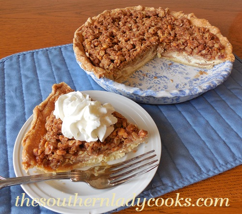 Apple Pie with Peanut Butter Crumble TSLC