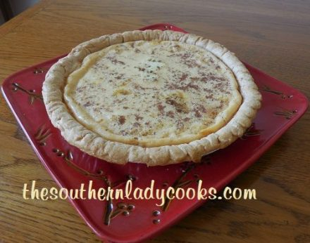 Easy Custard Pie - TSLC